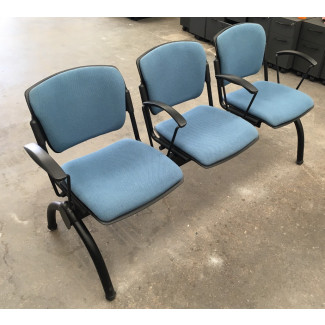 Blue 3 Seater Bench Seat