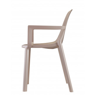 Remix plastic cafe side chair
