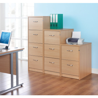 Deluxe filing cabinet with silver handles