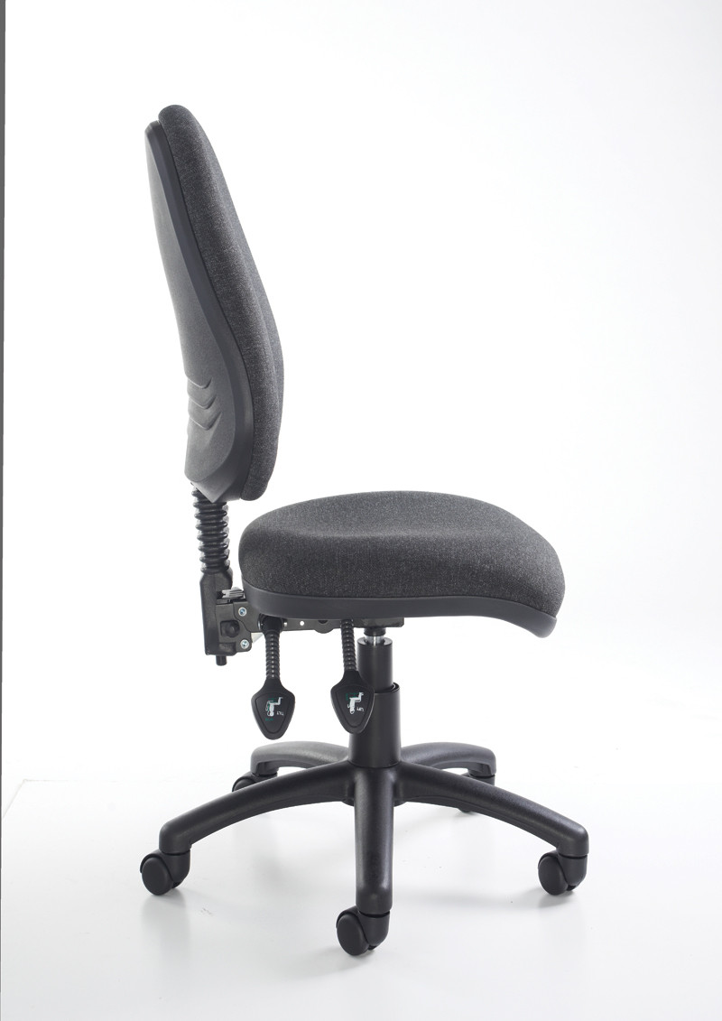 Vantage 100 Fabric Operator Chair With No Arms Black