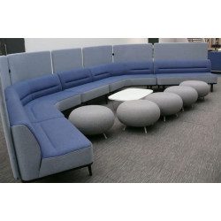 Allermuir MBTEBSSS01 Blue Curved Sofa