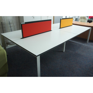 Bene T Workstation White Office Bench Desks