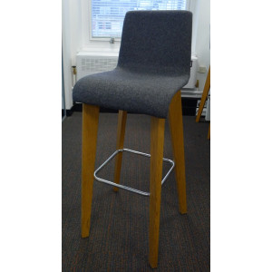 Frovi Jig Grey Fabric Stool
