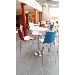 Pisa 1300x800mm Bistro Table - Walnut/Chrome