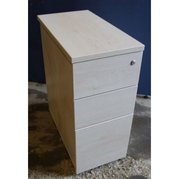 Maple Narrow Mobile Pedestal