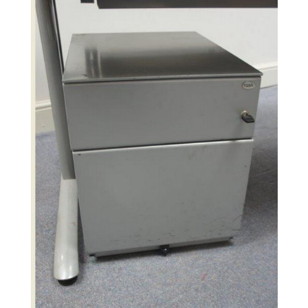 Grey 2 Drawer Mobile Pedestal
