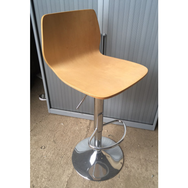 Beech Height Adjustable Bistro Stool