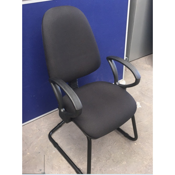 Black Meeting Chair with Arms