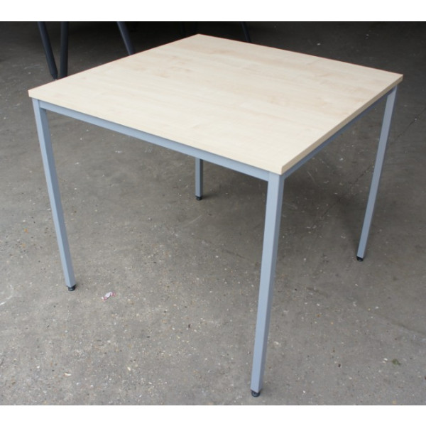 Dams 800mm Square Maple Meeting Table