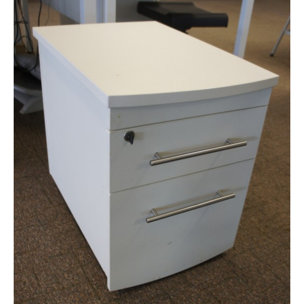 Imperial White 2 Drawer Mobile Pedestal
