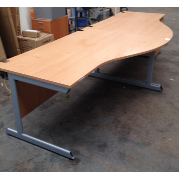 Beech R/H Wave Desk