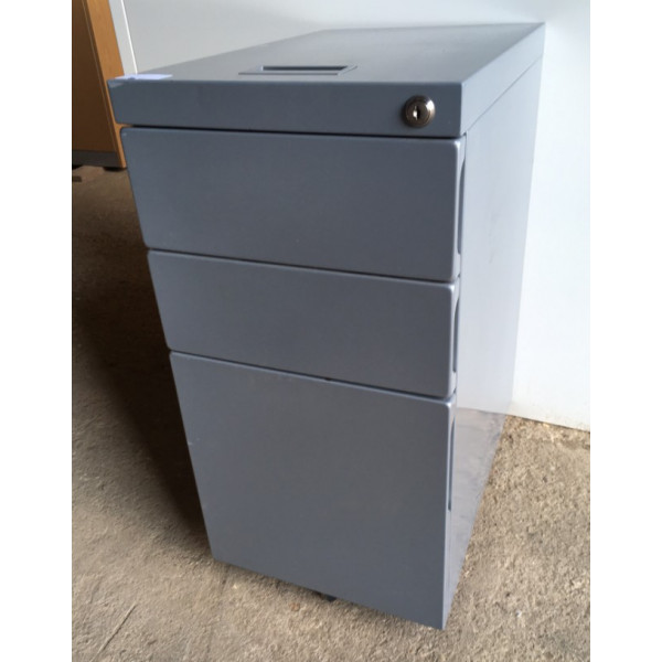 Grey Narrow Mobile Pedestal