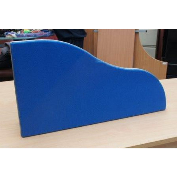 Blue 770mm Wave Desk Mounted Screen