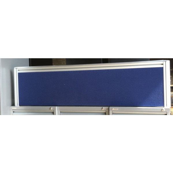 Blue 1400mm Desk Mounted Screen
