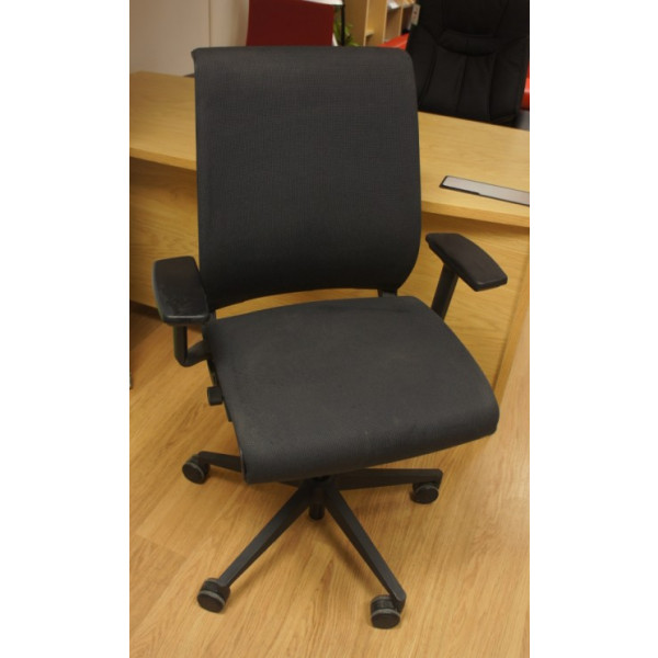 Steelcase Grey Operators Chair H/A Arms