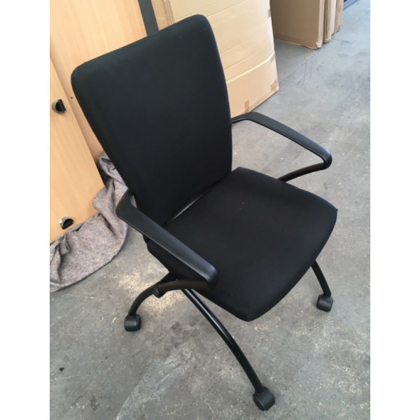Black Folding Meeting Chair