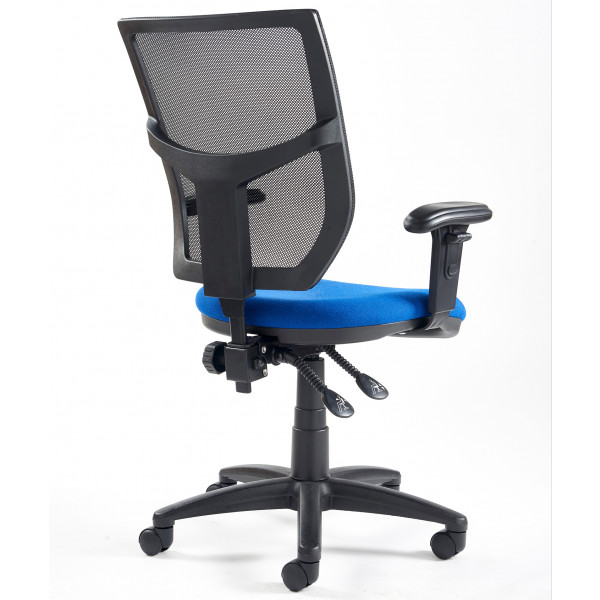 Altino high back operator chair with adjustable arms blue