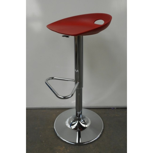 Red Cafe Stool