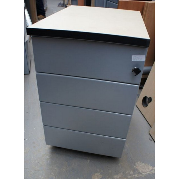 Grey Pedestal with Maple Top