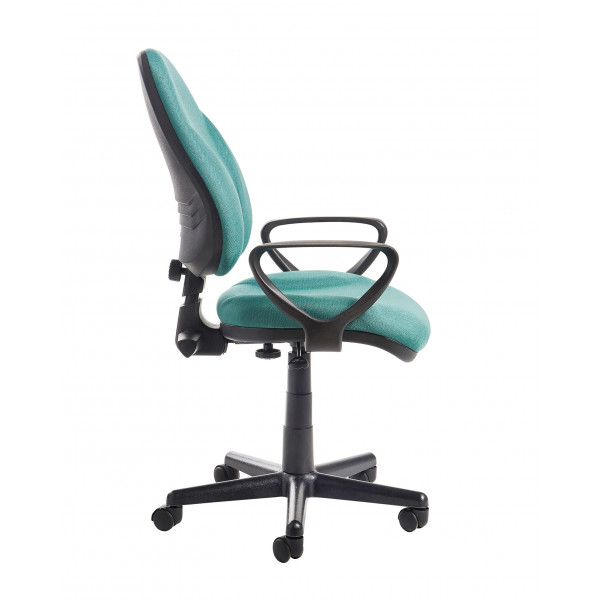 Bilbao high Back Operators chair with Lumber - Green