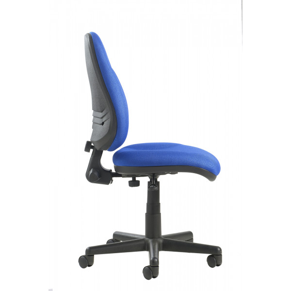 Bilbao high Back Operators Chair with lumbar - Blue
