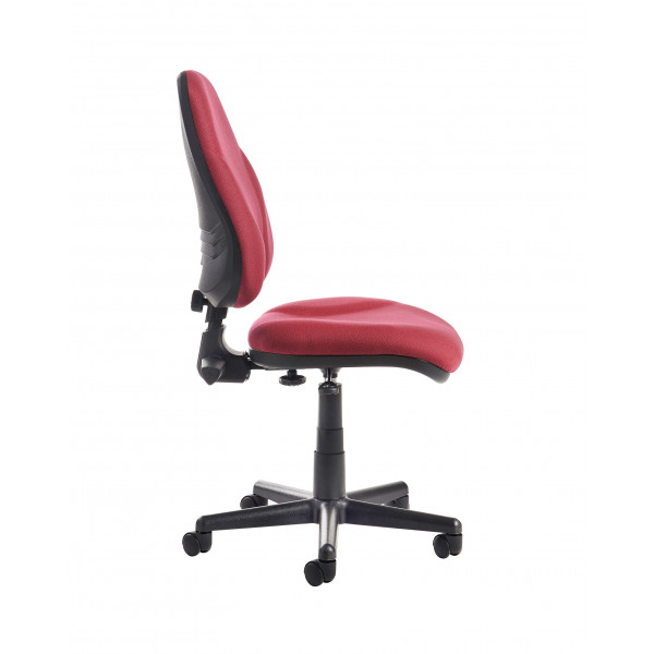 Bilbao high Back Operators Chair with lumbar - Burgundy