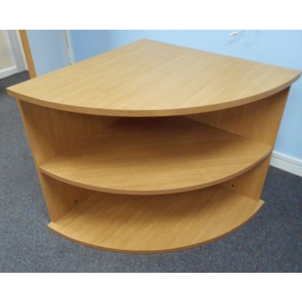 Oak Open Corner Unit