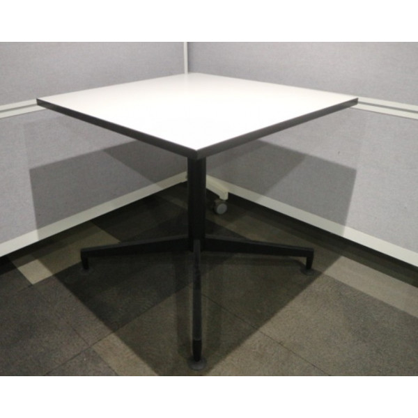 Steelcase White 800 x 800 Square Canteen Table