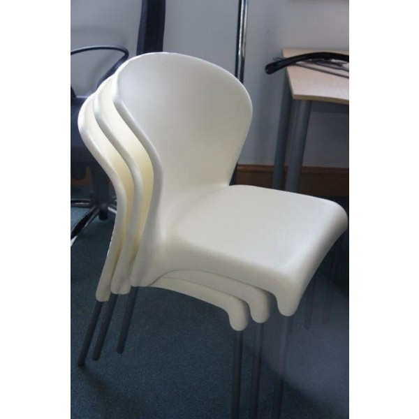 White Plastic Meeting Chair