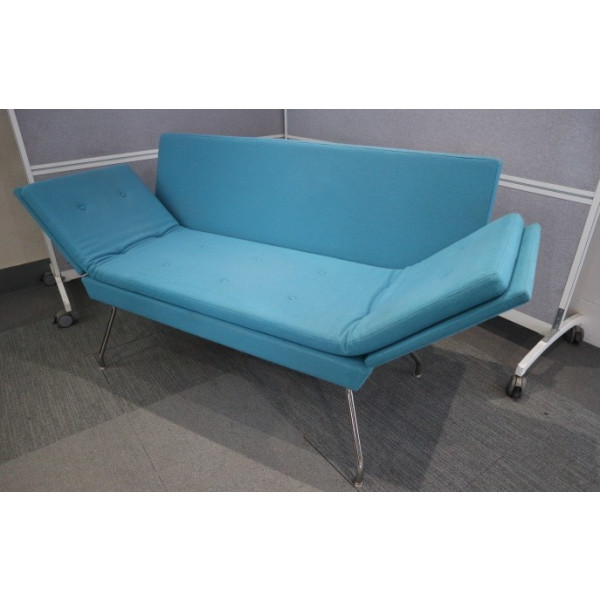 Ideas Materialised Blue Sofa with Folding Arms
