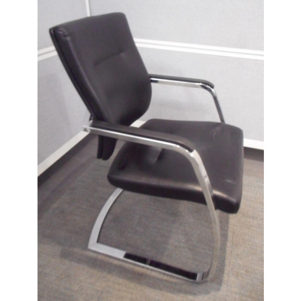 Verco Black Leather Meeting Chair