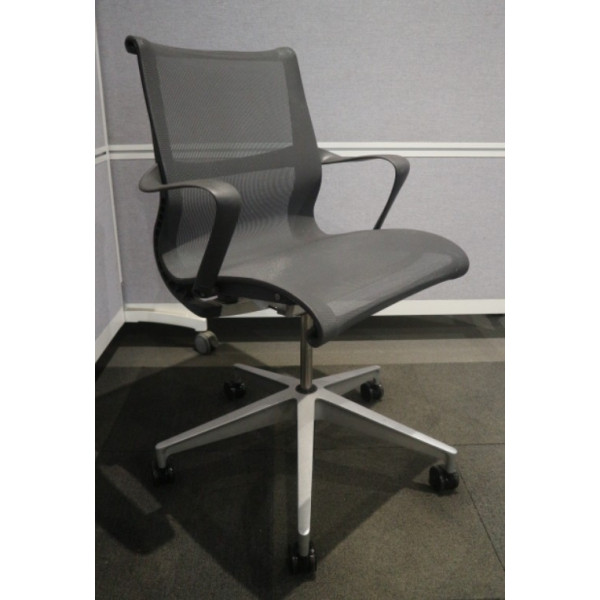 Herman Miller Setu Grey Mesh Back Operators Chair