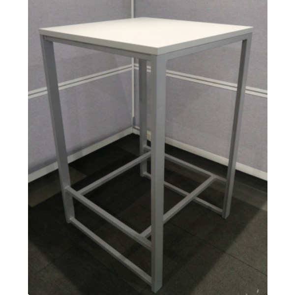 White 1120mm High Table