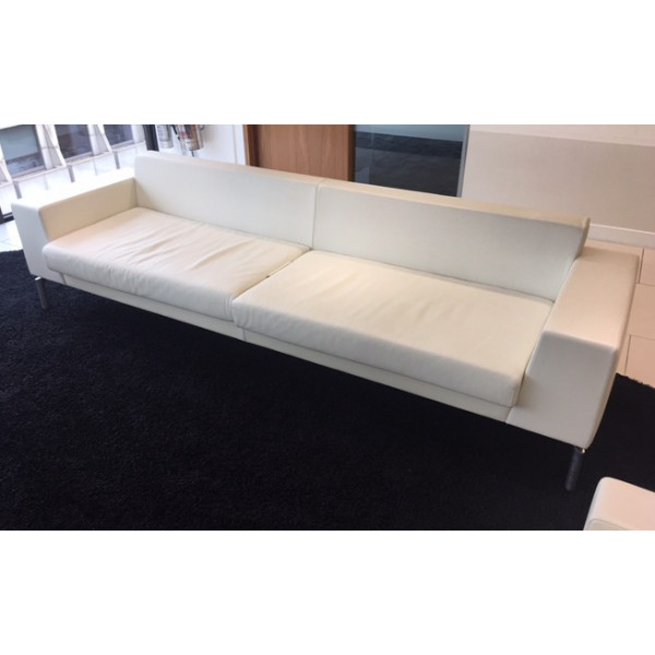 Boss Design White Leather Sofa