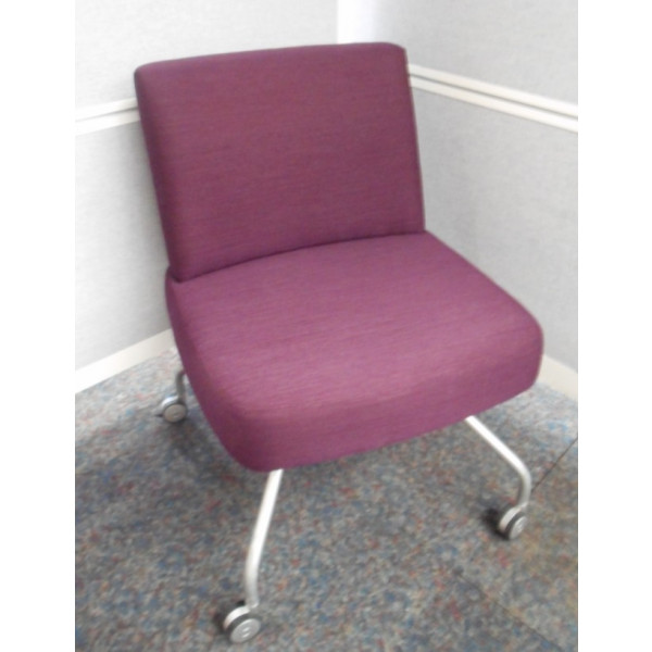 Purple Side Chair on Castors