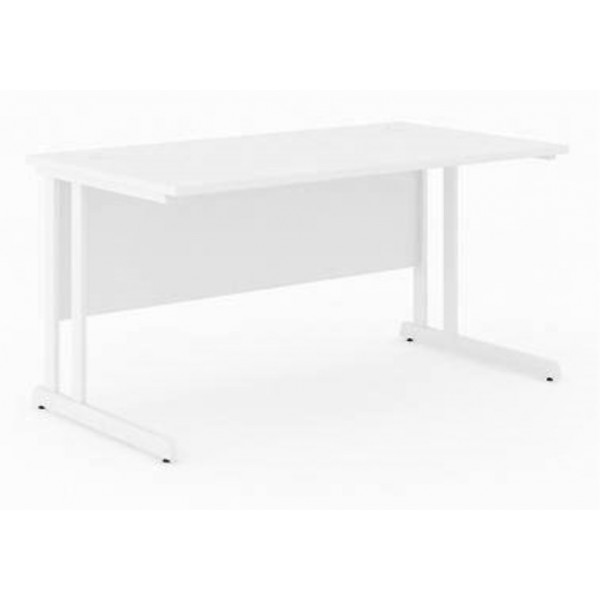 Narbutas Optima C Straight 1400 White Desk - Brand New