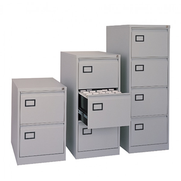 Dams 2 drawer executive filing cabinet Grey