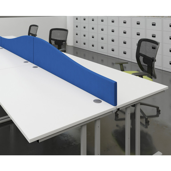 Wave Desk Screen 1600x400-200 - Blue