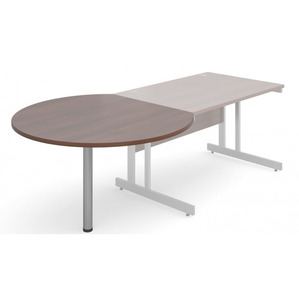 Dams 1200 D-end Desk Ext'n Circular Table EX DISPLAY
