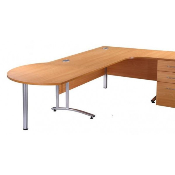 Value Beech Desk End Ext'n Table EX DISPLAY