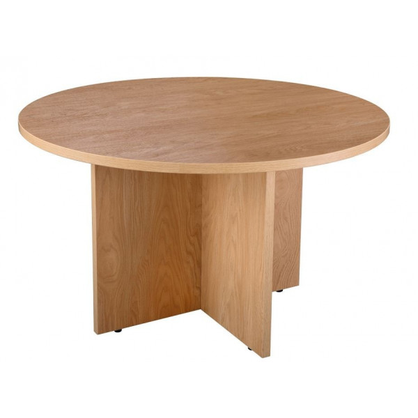 Value Crown Cut Oak 1200 Executive Meeting Table - EX DISPLAY