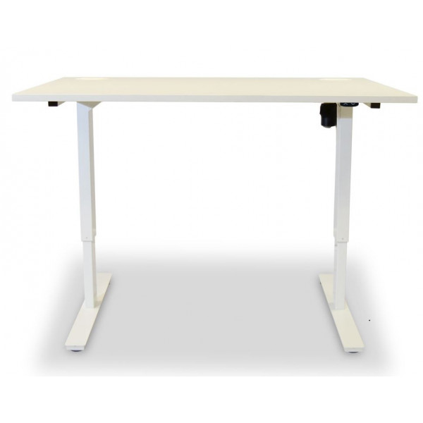 Value White 1600 Height Adjustable Desk - Ex Display