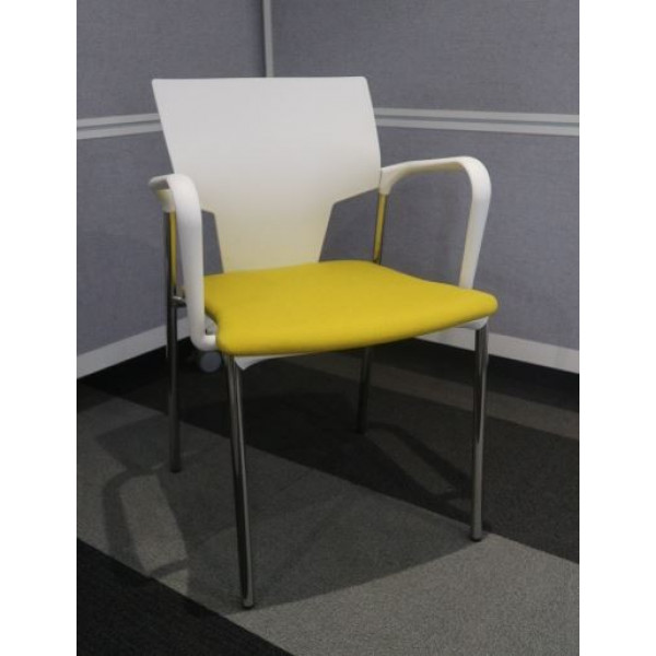Pledge Yellow Meeting Chair - Ex Display