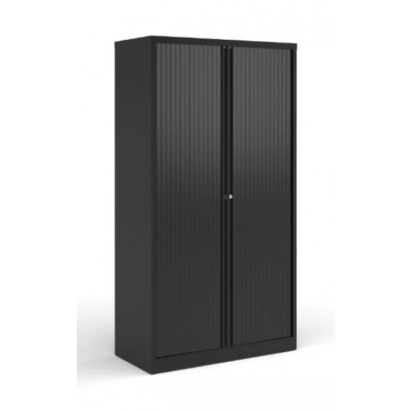 Dams High Contract Black Tambour Cupboard - Ex Display