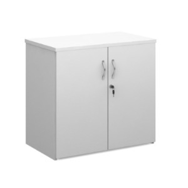 Dams White 740h D/D Cupboard - As New