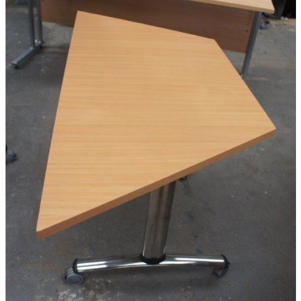 Beech Trapezoid Folding Leg Table