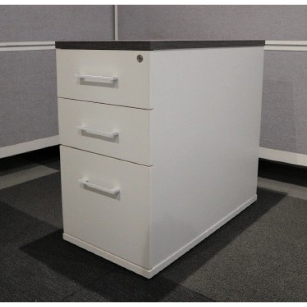 White D/H Pedestal with Anthracite Top