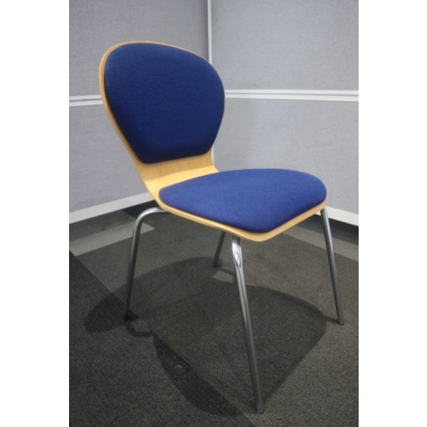 Blue/Beech Meeting Chair