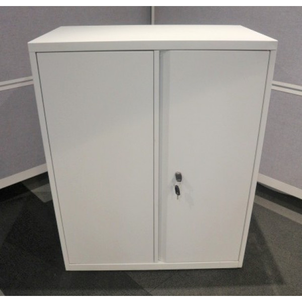 White Metal 1000h D/D Cupboard