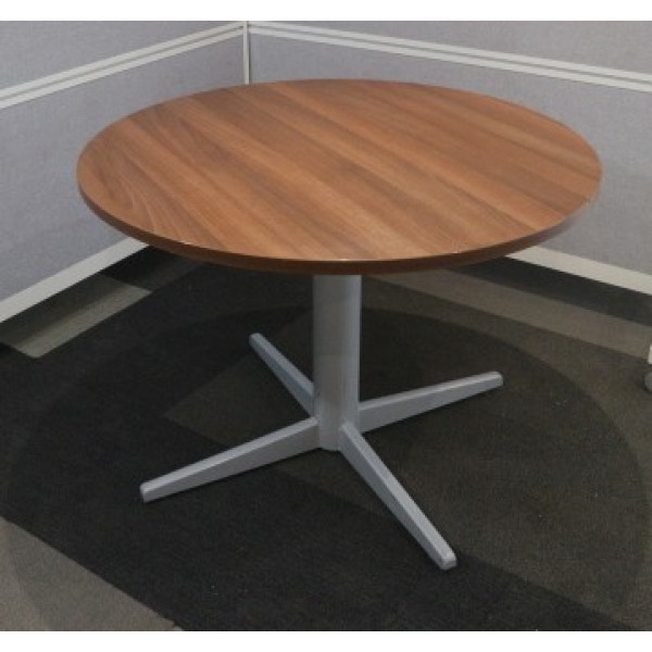 Walnut 1000 diameter Meeting Table